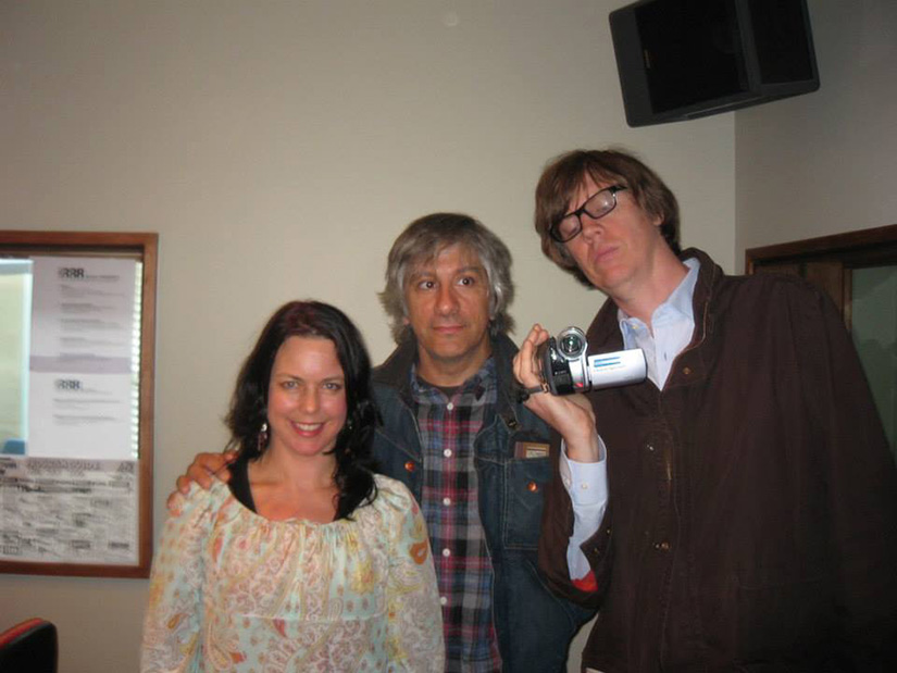 Karen Leng with Lee Ranaldo & Thurston Moore of Sonic Youth